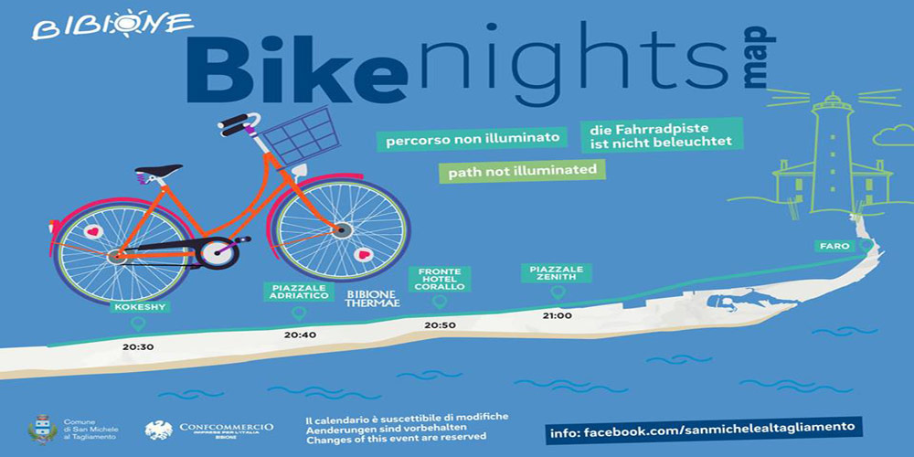 Bike Nights 2019: riding at moonlight on the seafront of Bibione