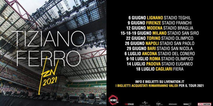 TZN 2021 – The concert of Tiziano Ferro near Bibione thumbnail