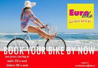 Prenota ora la tua bici per le vacanze a #bibione !!!! Prezzi a partire da 25€ a settimana per una bici d'adulto e 20€ per bici da bambino ! Per info contattateci tramite il sito www.eurobikebibione.it oppure via mail a ✉️eurobikebibione@libero.it . . . . . . #discoverbibione #visitbibione  #bibione2018 #rent #bikerental #rentabike #holidays #vacanze #bikerentalbibione